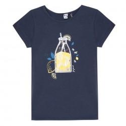 3 Pommes - T-shirt Bleu...